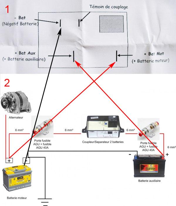 Schema coupleur separateur batterie